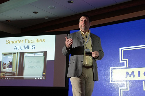 Bob Harris talks lean design at the Health Facilities Innovation Forum.